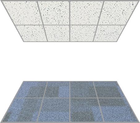 Systeemplafonds en tapijttegels